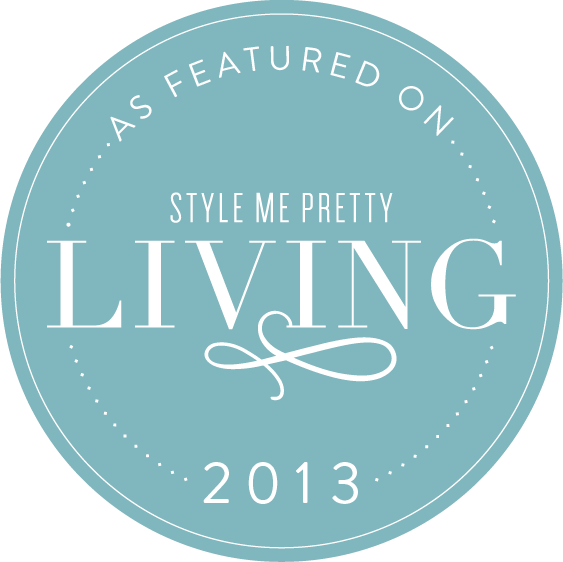 Featured on Style Me Pretty Living 2013